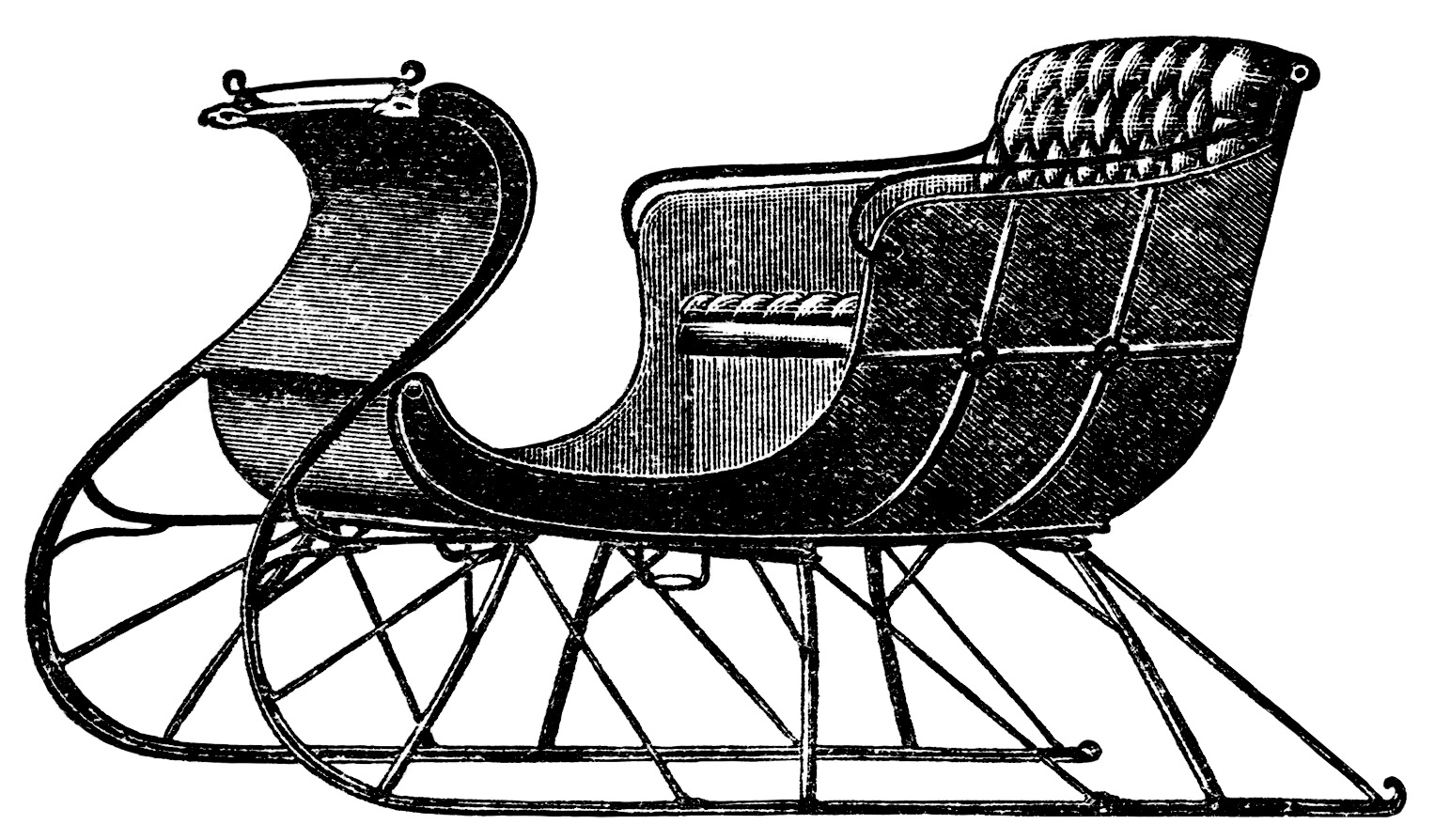 Horse Drawn Sleighs Free Vintage Graphics