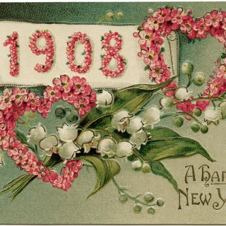 1908 New Year Postcard
