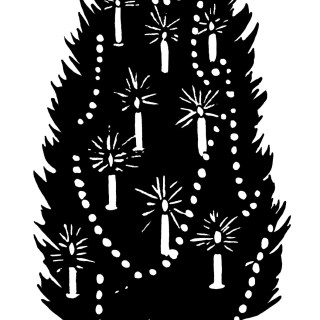 Vintage Christmas Tree Clip Art