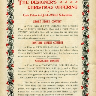 Antique Christmas Text Magazine Pages
