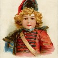 Victorian boy clip art, little drummer boy, up to date blueing, vintage advertising card, vintage Christmas graphics, Victorian boy in uniform illustration