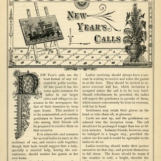Victorian Etiquette New Year's Calls