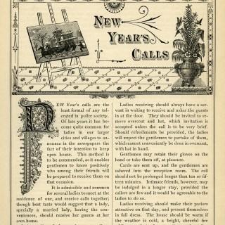 Victorian Etiquette New Year's Calls