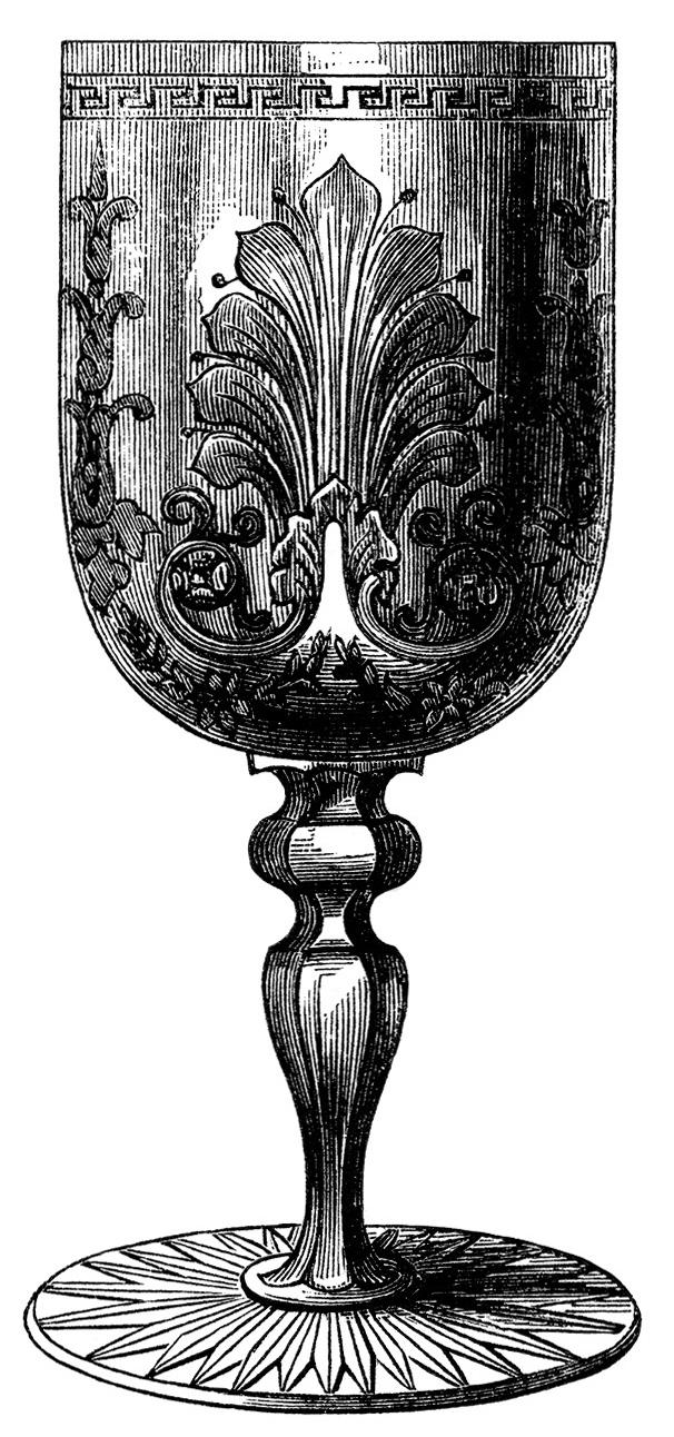 Antique Wine Glasses ~ Free Clip Art   Old Design Shop Blog