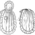 black and white clip art, vintage apron clipart, ladies' apron illustration, old fashioned apron, vintage kitchen graphics