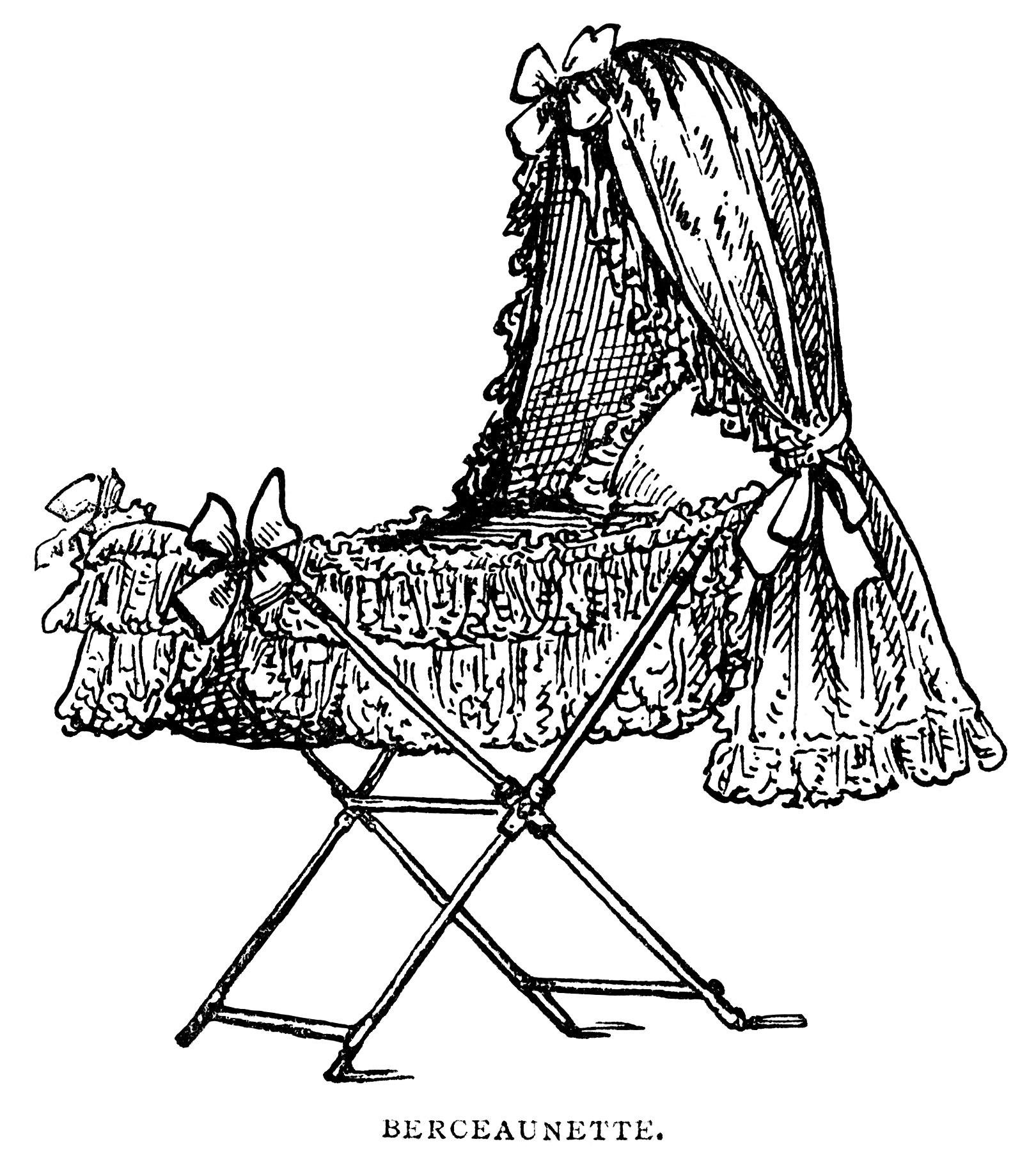 Victorian Baby Bassinet