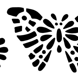 Butterfly Stencil Clip Art