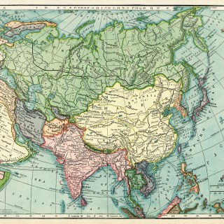 Map of Asia ~ Free Vintage Image