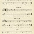 vintage sheet music, songs for February, kindergarten music, easy songs for children, old book page