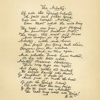 The Arbutus ~ Vintage Spring Poem