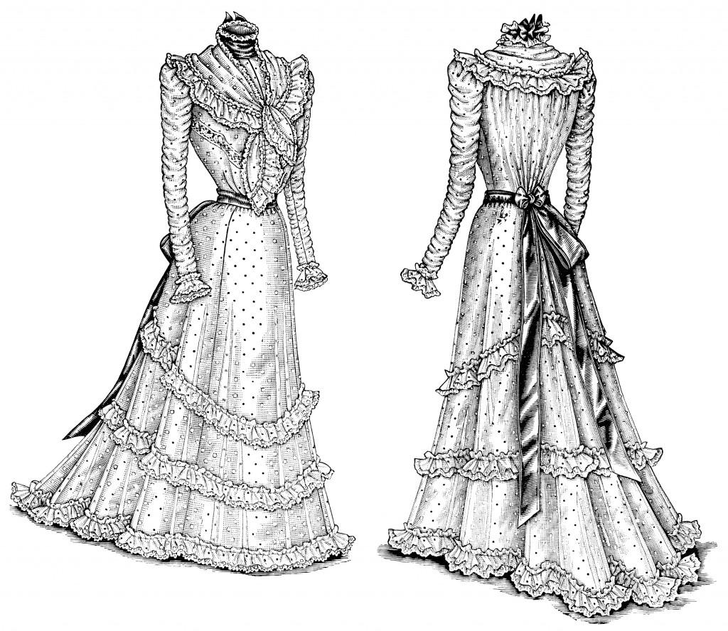 Victorian La S Dresses Clip Art