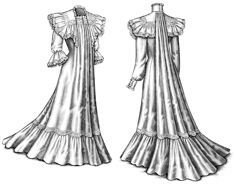 Victorian La S Dresses Free Fashion Clip Art