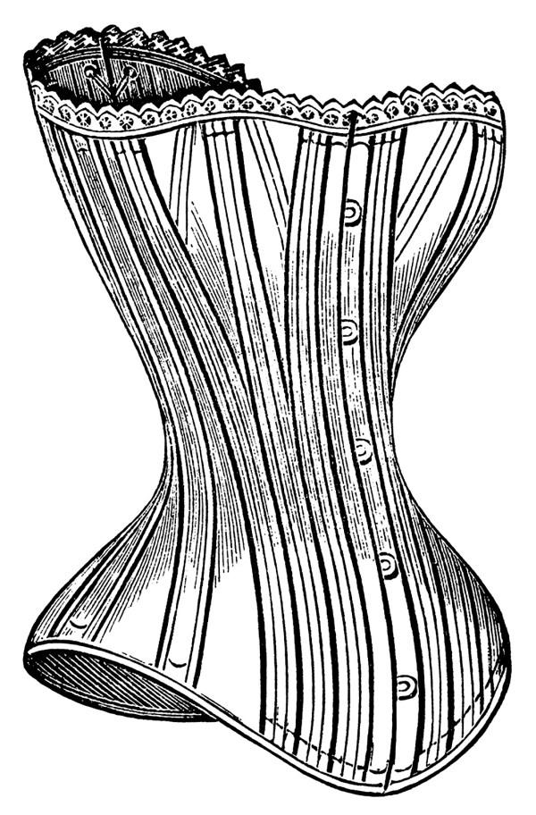 victorian corsets clip art