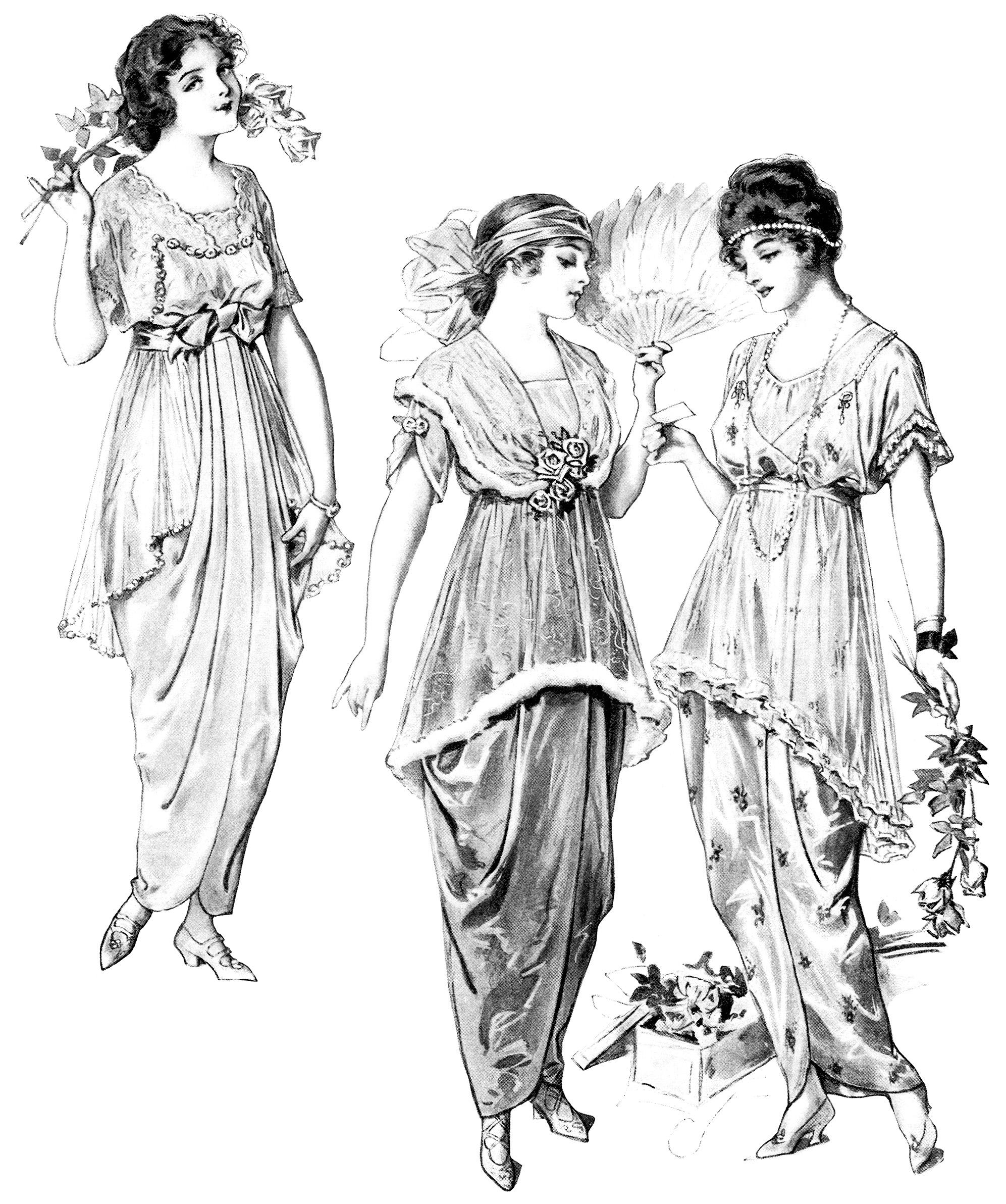 Vintage Fashion Clip Art 73