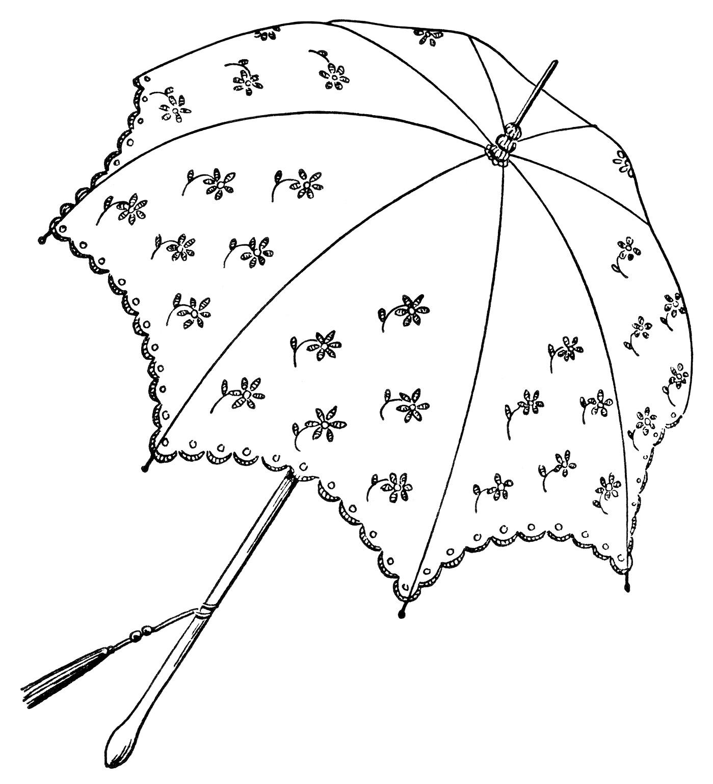 Pretty Parasols Clip Art