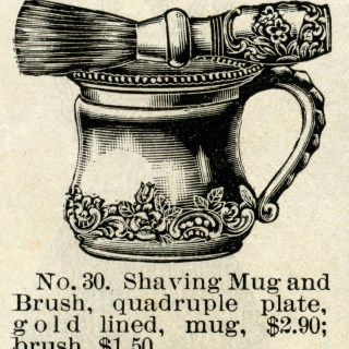 Antique Shaving Mug and Brush Sets