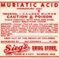 vintage poison label, muriatic acid label, red white label, antique medicine, vintage pharmacy clip art