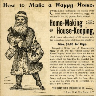 Happy Home Vintage Santa Ad