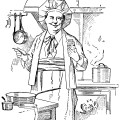 chef clip art, vintage kitchen printable, black and white graphics, vintage cooking illustration, food preparation sketch