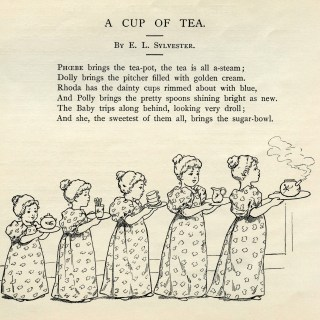 A Cup of Tea Vintage Clip Art