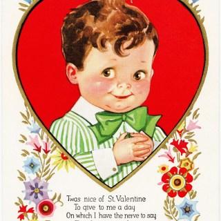 Victorian Boy Valentine Postcard