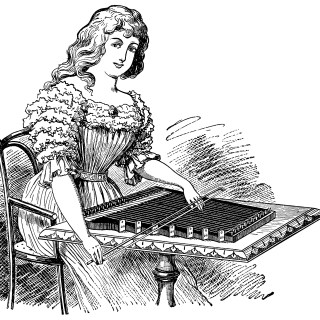 Zither Harp French Advertisement