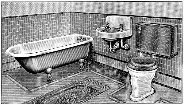 Vintage Bathroom Clip Art - Design