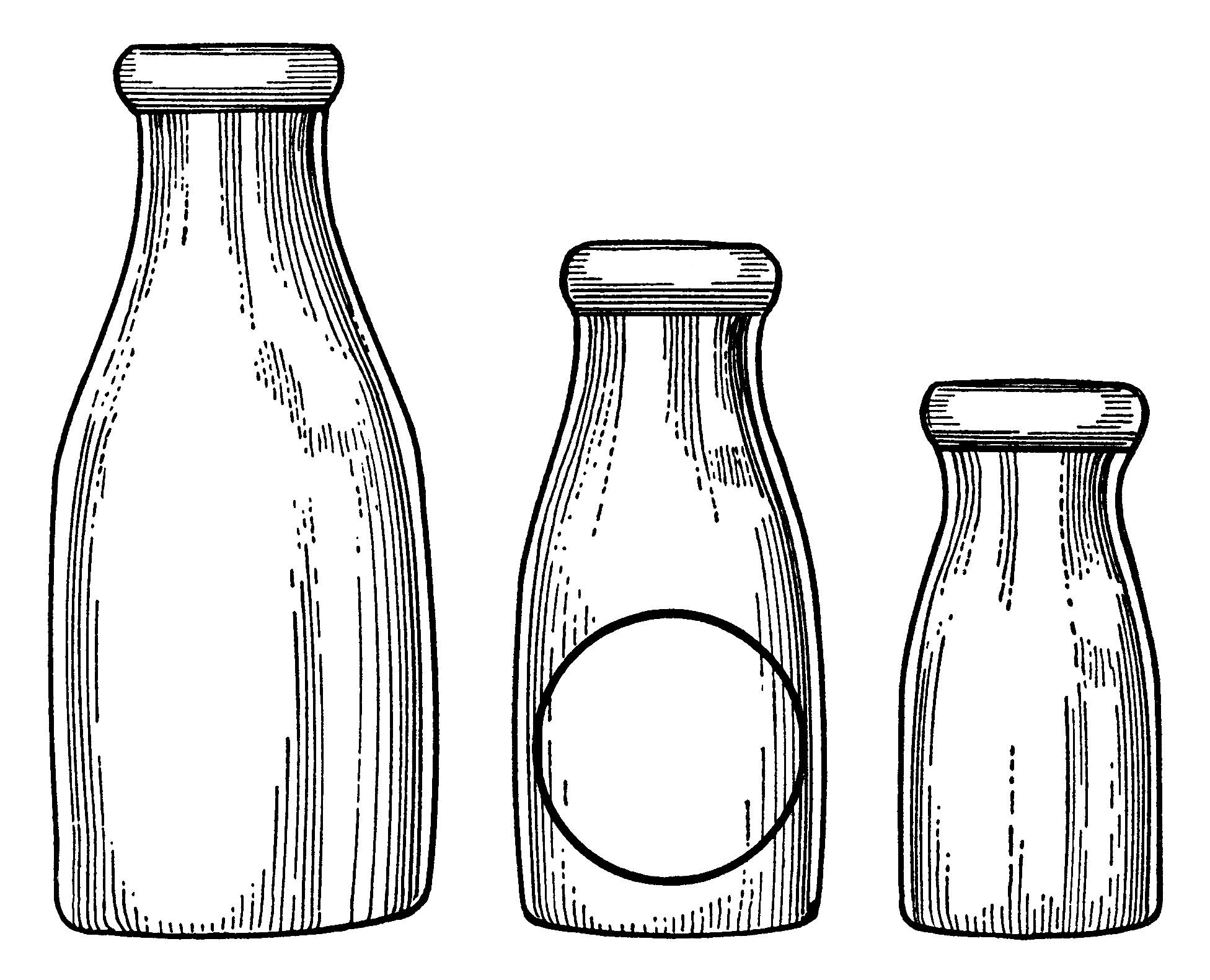 Milk Bottles Clip Art