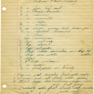 Old Christmas Plum Pudding Recipe