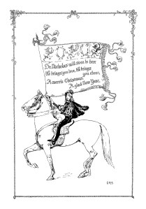Christmas poem, medieval boy, St Nicholas poem, vintage Christmas, Christmas clip art