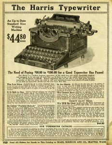 Free Vintage Printable Typewriter Catalog Advertisement