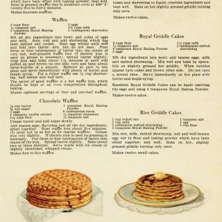 Free Vintage Printable Cookbook Page Muffins Waffles