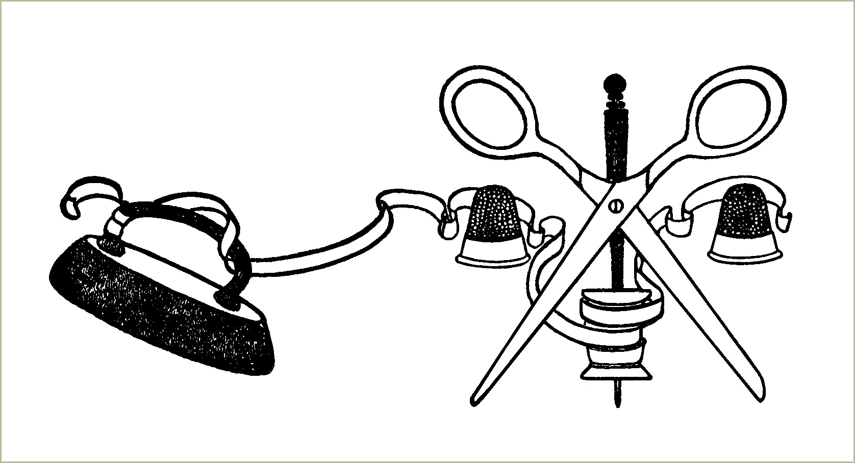 Free Vintage Clip Art Sewing Notions