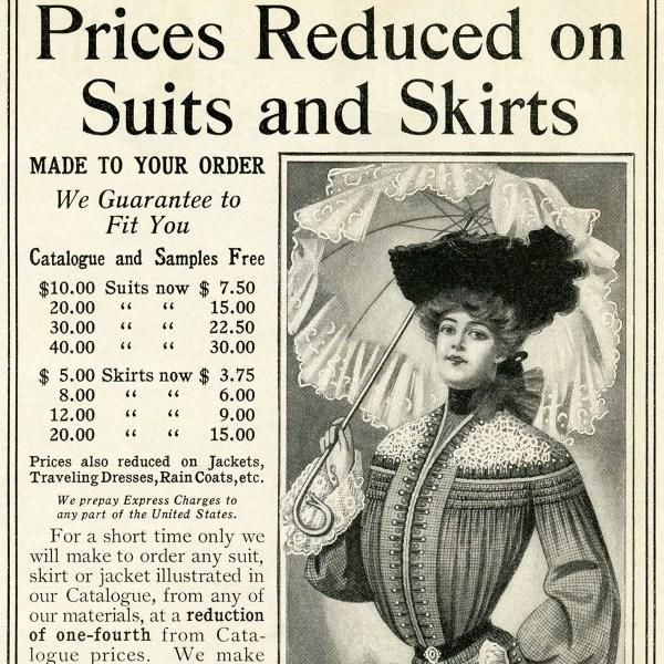 Free Vintage Woman Clothing Clip Art Ad - Design