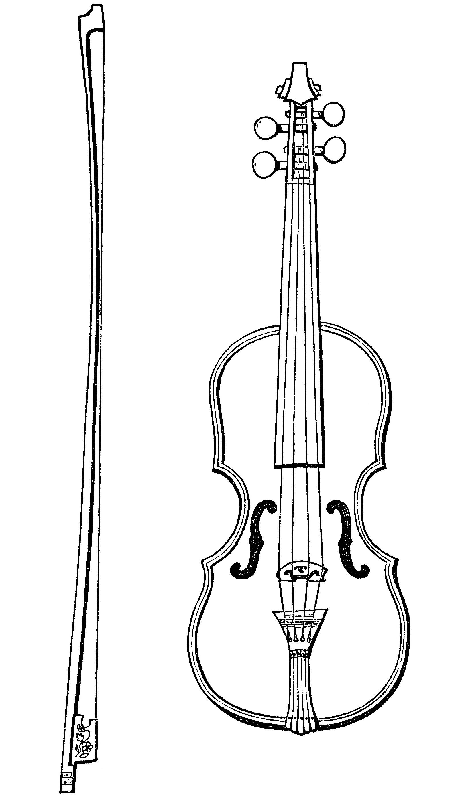 Vintage Violin Clip Art
