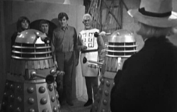 The Daleks team up with the dubiously intentioned Mavic Chen, to take over and destroy the universe; in the Dalek's Masterplan - 1966.
