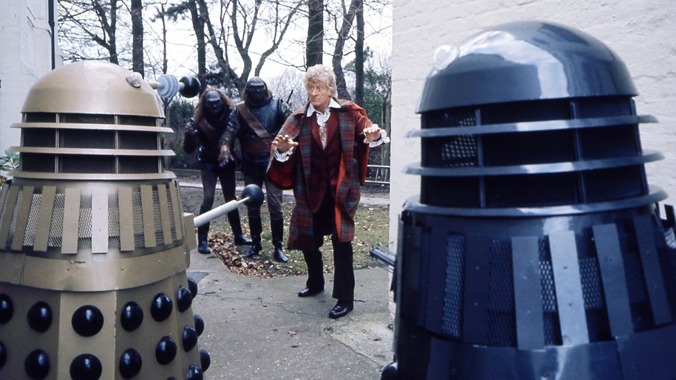 """The Third Doctors re-encounters the Daleks and their Ogron slaves, in """"Day Of The Daleks"""" - 1972."""