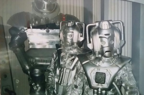 """The Cybermen and the """"Robot"""" looking stern - Longleat exhibition 1989."""