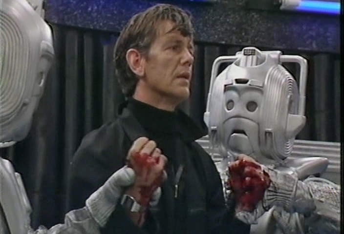"""Lytton has his hands crushed, in """"Attack Of The Cybermen"""" - 1985."""