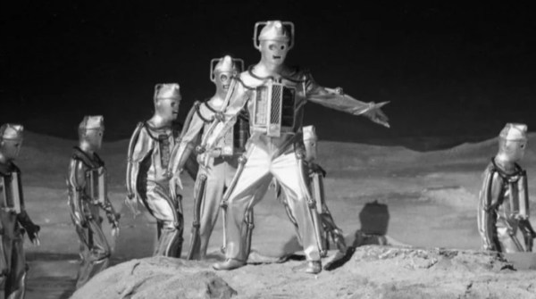 "Eireely effecting infiltration tale, set on the moon; in ""The Moonbase"" - 1967."