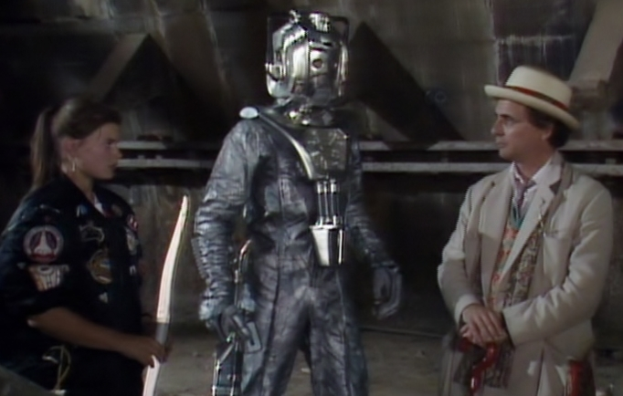 """The Doctor versus the Cybermen versus the Nazi Fourth Reich, in barmy retrieval tale -""""Silver Nemesis"""" - 1988."""