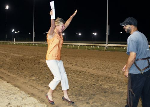 BOLTIN'_OUT_The_14th_Running_of_the_Punch_Line_Stakes_07-06-13_CNL_Trainer_Reaction (2)