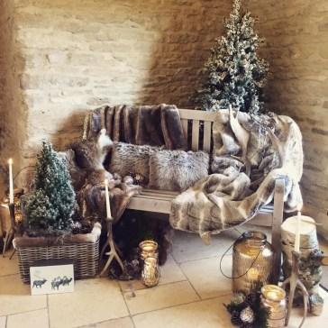 Cosy winter weddings decoration