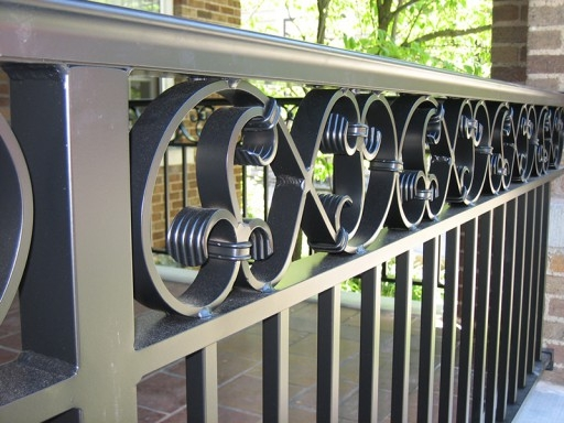 Aluminum Railings Old Dutchman S Wrought Iron Inc | Wrought Iron Outdoor Handrails | Curved | Vintage Salvaged Outdoor Iron | Aluminum | Modern | Residential