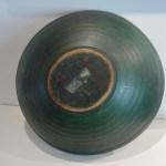 Treenware Bowl in Deep Green Paint 2