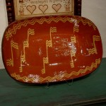 Large Redware Platter Shopkorn