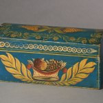 american painted stenciled box