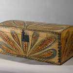 Dome Top Box, Feather Decoration