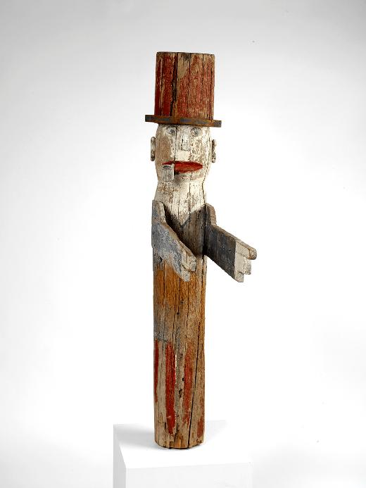 primitive uncle sam sculpture rel=