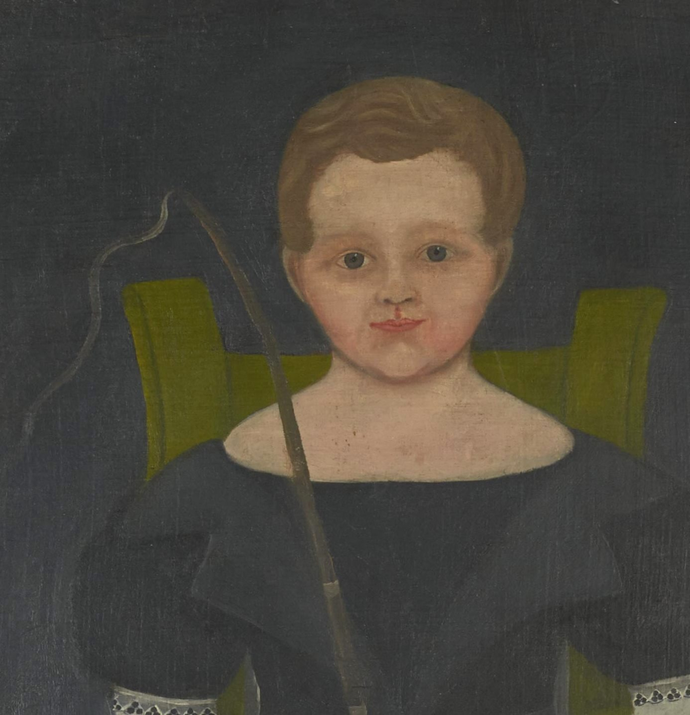 American folk portrait of a boy rel=